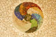 Gaudi mosaic, rosette Stock Illustration