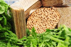 matza for passover - stock photo