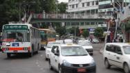 Stock Video Footage of Yangon People and Traffic