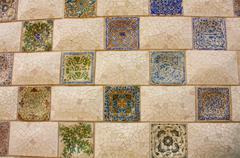 Gaudi mosaic. Stock Photos