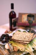 passover dinner celebrations - stock photo