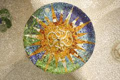 Gaudi mosaic, rosette. Stock Photos