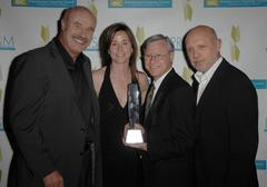 dr. phil mcgraw, actress jayne brook, award recipient and producer marty tenn - stock photo