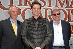 walt disney studios chairman dick cook, jim carrey, robert zemeckis.official - stock photo
