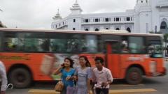Yangon People and Traffic Stock Footage