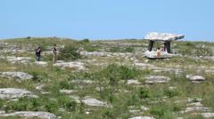Poulnabrone dolmen 2 Stock Footage