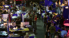 Participants and visitors walk during Moscow Tattoo Convention V Stock Footage