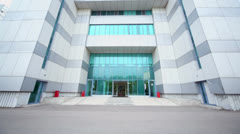 Exterior of modern office building, (show in motion) Stock Footage