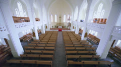 Inside Evangelical Lutheran Cathedral of Sts. Peter and Paul Stock Footage