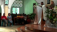 Stock Video Footage of First Holy Communion in Jungle Village