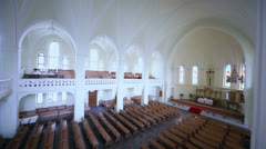 Main hall and second level of Evangelical Lutheran Cathedral Stock Footage