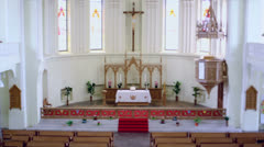 Altar in Evangelical Lutheran Cathedral of Sts. Peter and Paul Stock Footage