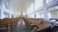 Panorama of Evangelical Lutheran Cathedral Stock Footage