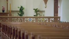 Pulpit in Evangelical Lutheran Cathedral of Sts. Peter and Paul Stock Footage