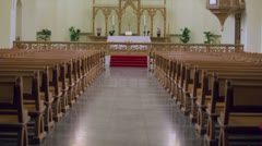 Chancel in Evangelical Lutheran Cathedral of Sts. Peter and Paul Stock Footage