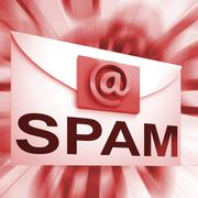 Spam envelope shows malicious electronic junk mail Stock Illustration