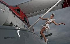 Glamour plane Stock Photos