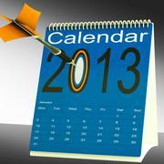2013 calendar target shows year organizer Stock Illustration