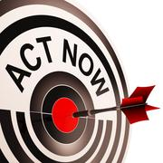 act now means to inspire and motivate - stock illustration