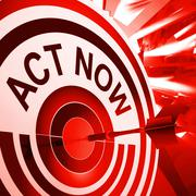 act now means to take quick action - stock illustration