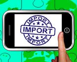 Stock Illustration of import on smartphone shows international shipment