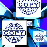 copy on cubes shows duplicates - stock illustration