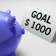 Goals dollars shows aim target and plan Stock Illustration