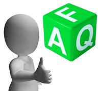 faq dice as sign for information or assisting - stock illustration