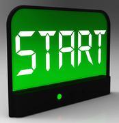 Aloittaa painiketta kello näyttää alussa tai aktivoimalla Piirros