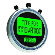 time for innovation meaning creative development and ingenuity - stock illustration