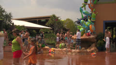 Visitors Walking in Florida Water Park Stock Footage
