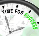 Time for success message shows victory and winning Stock Illustration