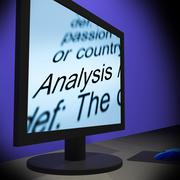 Analysis on monitor shows verification Stock Illustration