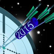 Stock Illustration of 2015 accurate dart target shows successful future