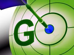 Stock Illustration of go shows sign to initiate and begin