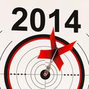 Stock Illustration of 2014 calendar shows planning annual projection