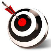 Target shows successful performance and result Stock Illustration