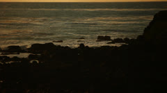 Tijuana Mexico Rocky Shore at Sunset HD Video Stock Footage