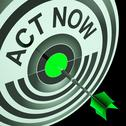 Stock Illustration of act now means to hurry and move