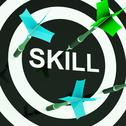 Stock Illustration of skill on dartboard shows competencies