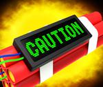 Stock Illustration of caution dynamite sign meaning danger or warning