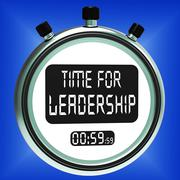time for leadership message means management and achievement - stock illustration