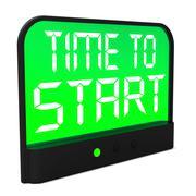 Aika aloittaa viesti näyttää alussa tai aktivoimalla Piirros