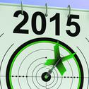 Stock Illustration of 2015 calendar shows planning annual projection