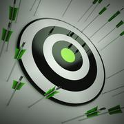 Stock Illustration of off target shows to miscalculate skill
