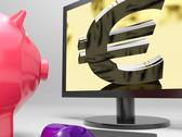 Stock Illustration of euro screen shows finance wealth and prosperity