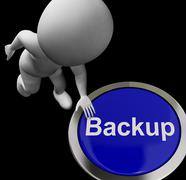 Backup button for archives and data storing Stock Illustration