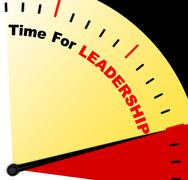 Time for leadership message representing management and achievement Stock Illustration