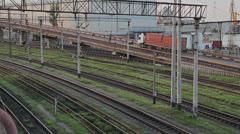 Railway Switchyard Stock Footage