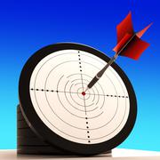 Stock Illustration of target shows winning strategy and perfect skill